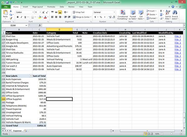 EZBooks Excel Export