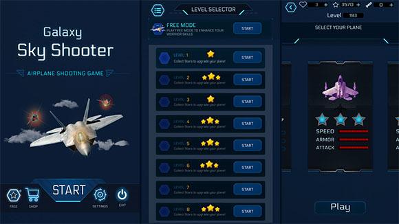 Galaxy Sky Shooter | Airplane Shooting Game