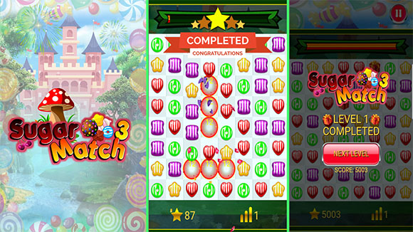 Sugar Match 3 | Sweet Candy Puzzle