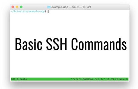 basic ssh commands