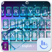 Breaking Glass Water FREE Keyboard Theme