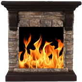 Live Fireplace : Sleep and Relax
