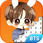 BTS Army Pixel Art - Number Coloring Books