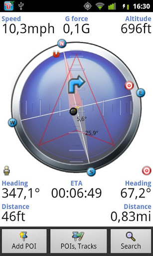 Compass - GPS, Search, Navigate