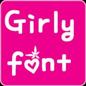 Girly Fonts for FlipFont
