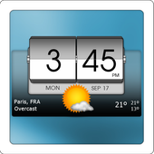 3D Flip Clock and Weather