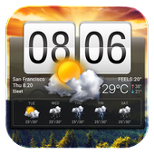 Flip Clock and Weather Widget