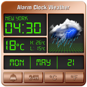 Alarm clock style weather widget