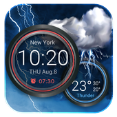Weather Forecast and Clock Widget