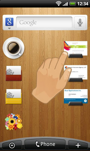 Biz cards viewer Carda Widget