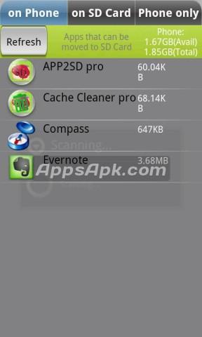 App 2 SD App to SD Card