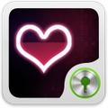 Red heart Theme GO Locker
