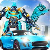 Grand Robot Transformation Tiger : Robot Car