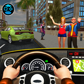 Taxi Driving Game 2018: Taxi Yellow Cab Driving 3D