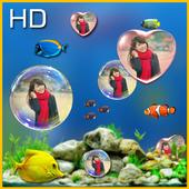 Bubble photo live wallpaper with aquarium