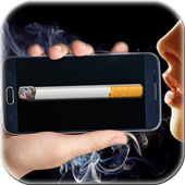 Smoking virtual cigarette