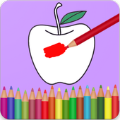 Fruits Vegetables Coloring Book