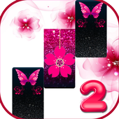 Pink Glitter Butterfly Piano Tiles 2019