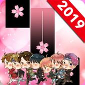 BTS Pink Piano Tiles