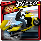 Pizza Bike Delivery Boy