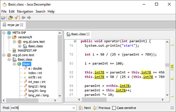 JDecompiler (Java Decompiler)