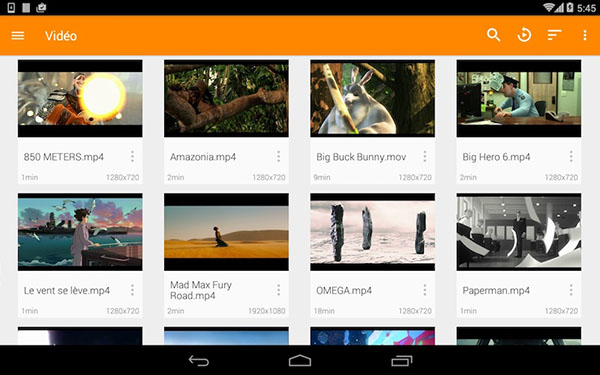 VLC for Android video library