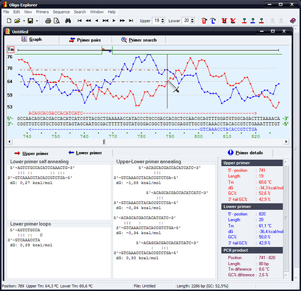 Oligo Explorer 1.5 screenshot