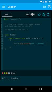 Dcoder, Compiler IDE :Code and Programming on mobile ScreenShot1