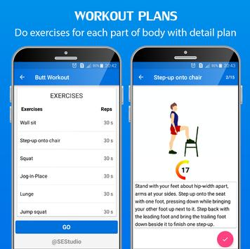 30 Day Home Workout - Fit challenge home workouts ScreenShot1