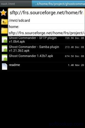 SFTP plugin to Ghost Commander ScreenShot1