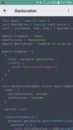 React Native Explorer with code