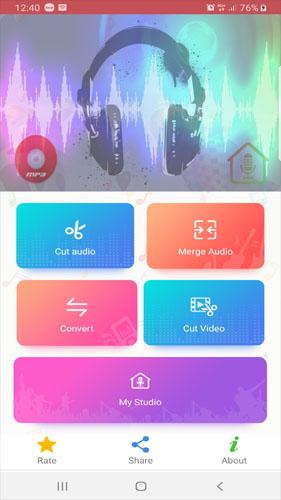 MP3 Cutter and Ringtone Maker ScreenShot1