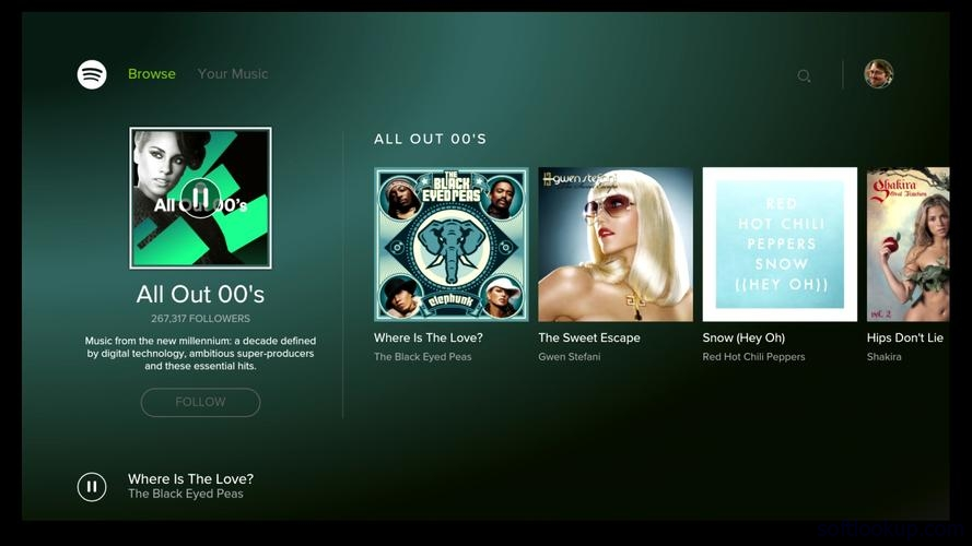 Spotify Music - for Android TV ScreenShot1