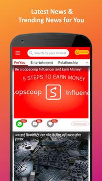 Lopscoop: Best News APP  India, Earn Extra Money