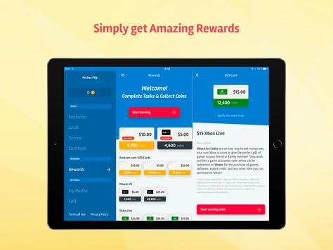 PocketFlip - Free Gift Cards ScreenShot1