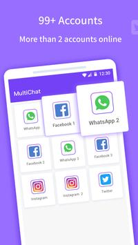 Multichat - 2 accounts for 2 whatsapp and App clone ScreenShot1