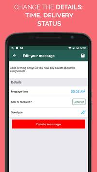 WhatsFake Pretend Fake Chats ScreenShot1