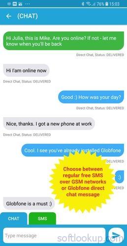 Globfone SMS Messenger ScreenShot1