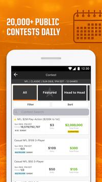 DraftKings - Daily Fantasy Sports for Cash Prizes ScreenShot1