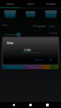 AParted ( Sd card Partition ) ScreenShot1