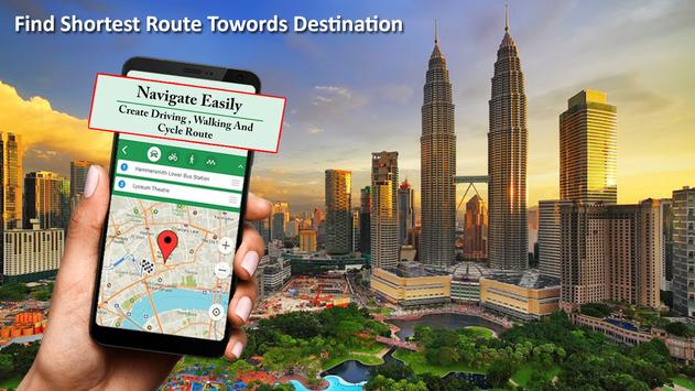 GPS Navigation , Earth Map and Travel Direction