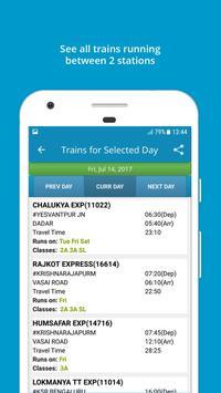 Indian Rail Train Info ScreenShot1