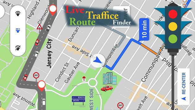Voice GPS Navigator: Live Traffic and Transit Maps ScreenShot1
