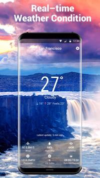 Real-time weather temperature report and widget