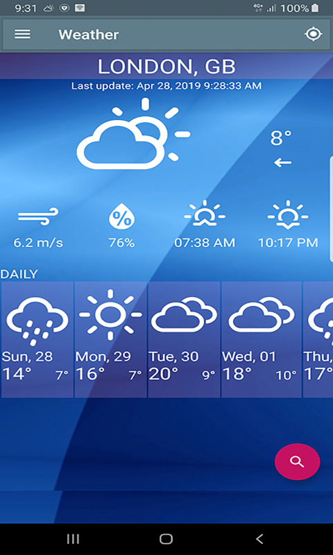 Free Weather Forecast ScreenShot1