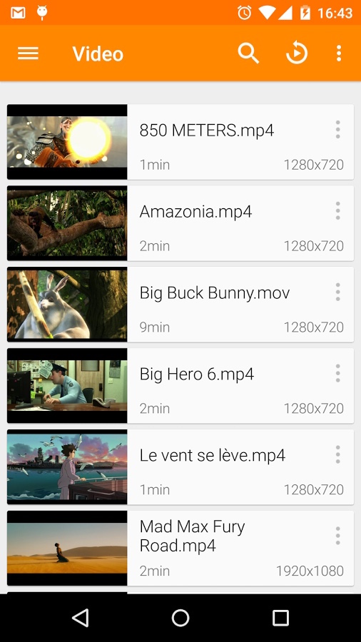 VLC for Android ScreenShot1