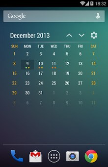 Event Flow Calendar Widget