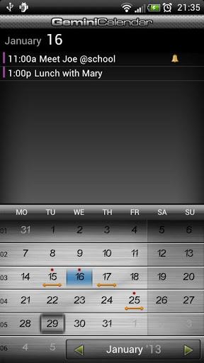 Gemini Calendar