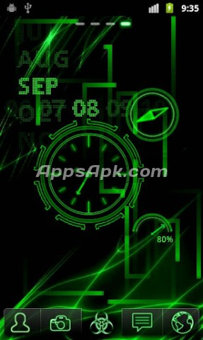 Free Download - Neon Clock Live wallpaper APK