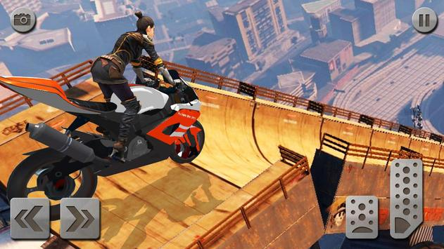 Impossible Mega Ramp Moto Bike Rider: Superhero 3D ScreenShot1
